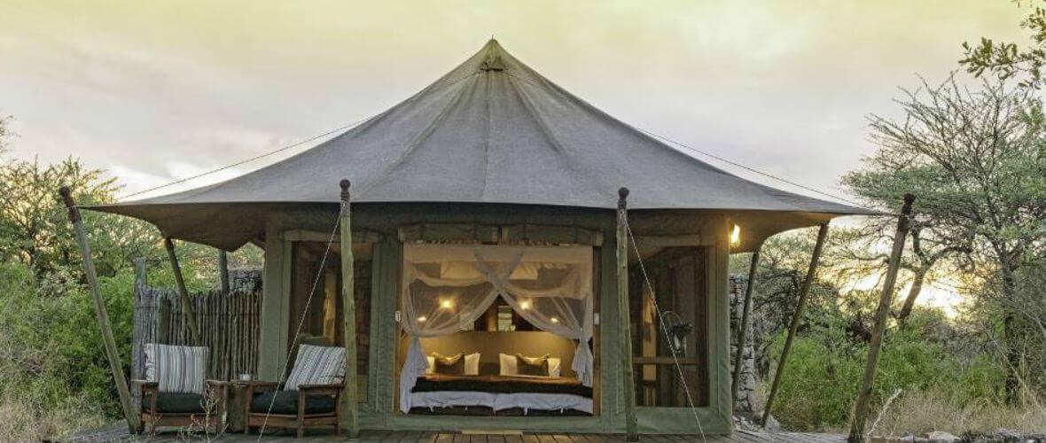 Namibya Turu Onguma Tented Camp Büyüleyici ve Lüks Namibya  Turu